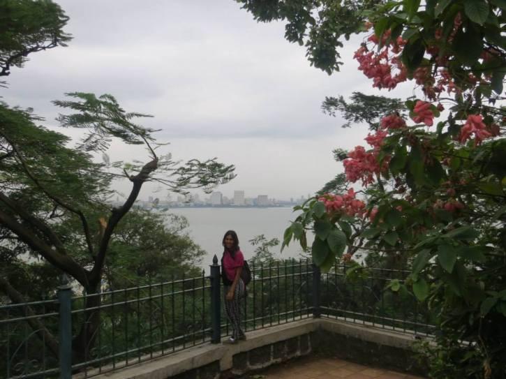 Enjoying the view at Hanging Gardens