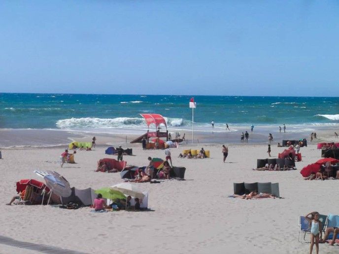 Wind blockers on Praia de Torreira